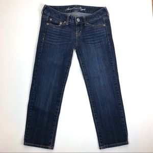 american eagle stretch skinny jeans size 0 short